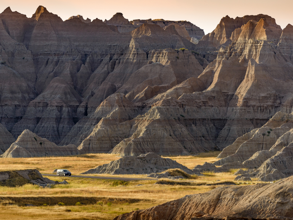 Scenic drives through Badlands National Park. Photo courtesy of South Tourism